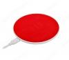 Зарядное устройство беспроводное, 1А, красное, CW14 Round