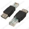 Переходник (433) RJ45 шт/USB A гн