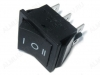 Сетевой выключатель RWB-508 (KCD4-203-C6-B/6P) ON-OFF-ON черный с нейтралью 21,5*28,5mm; 15A/250V; 6 pin