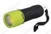 Фонарь P4-L2W-gn светодиодный (черно-зел.) COB LED; питание 3xR03; пластиковый корпус