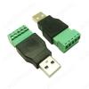 Разъем (3734) USB A-M штекер с клеммной колодкой для кабеля UTP/FTP
