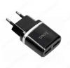 Сетевое зарядное устройство с выходом 2*USB, 2.4А, черное, C12 Smart;
