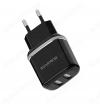 Сетевое зарядное устройство с выходом 2*USB, 2.1A, чёрное, BA25A Outstanding;
