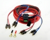 Набор для уст-ки автоусилителя SQ 4.10 Комплект силовых кабелей 10 GA(5,3мм2): 5м. красный, 1м. черный, АТС терминал предохранителя (60A), клеммы, RCA кабель - 2шт