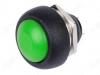 Кнопка PBS-33B OFF-(ON) зеленая, без фиксации 1A/250VAC; 2pin
