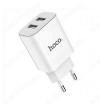 Сетевое зарядное устройство с выходом 2*USB, 2.1A, белое, C62A Victoria Dual;