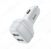 Автомобильное зарядное устройство с выходом 2*USB, 2.4A, белое, Z36 Leader;