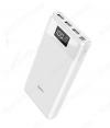 Аккумулятор внешний 30000mAh B35E Entourage белый выход: 3*USB; 2.0A; дисплей