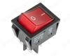 Сетевой выключатель RWB-513-25A красный с подсветкой (36-2343) 29,5*22,2mm; 25A/250V; 4 pin