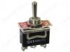 Тумблер KN3C-123A (250V;15A) (ON)-OFF-(ON) без фиксации 3 pin