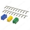 Разъем а/м линейный выход Mini ISO (6+6+8 конт.) желтый+зеленый+синий (комплект разъемов с контактам для LADA KALINA2/PRIORA/GRANTA/DATSUN