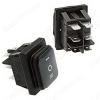 Сетевой выключатель SB090 IP65 (ON)-OFF-(ON) черный с нейтралью 28,8*21,8mm; 16A/250V; 6 pin; влагозащищенный