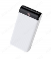 Аккумулятор внешний 20000mAh J59A Famous белый выход: 2*USB, Type-C; 2.0A; LED-дисплей
