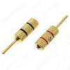 Разъем (057) BANANA-2mm штекер на кабель металл Gold (пара) (1-648G) черный, красный