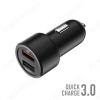 Автомобильное зарядное устройство с выходом 2*USB, 5.4А, чёрное,