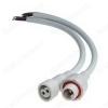 Разъем герметичный 2pin WP L=40 D=19mm 2*0.5mm2 IP68; белый, с кабелем