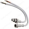 Разъем герметичный 4pin WP L=40 D=13mm 4*0.3mm2 IP68; белый, с кабелем