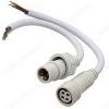 Разъем герметичный 4pin WP L=40 D=18mm 4*0.5mm2 IP68; белый, с кабелем