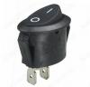 Сетевой выключатель SC760-1 2C черный овальный 13,5*22,6mm; 3A/250V; 2 pin