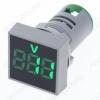Вольтметр цифровой DMS-143 цвет свечения зеленый (квадратный дисплей)