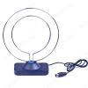 Антенна комнатная APA-011 (двойной ДМВ-контур) пассивная ДМВ/DVB-T2; 1dB; с кабелем; 1/70