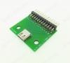 Модуль плата-переходник Type-C, разведённый на макетной плате, 26-pin Type-C гнездо; разводка 26-pin; угловые штекеры PLS