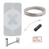 Комплект для усиления 3G/4G интернета DACHA-15F до 15 км Антенна AGATA-F/ Кронштейн KS-240/ Кабельная сборка F-F - 10м/ Адаптер антенный F-CRC9/ Модем 4G HUAWEI E3372H-320