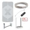 Комплект для усиления 3G/4G интернета DACHA-15F-WiFi до 15 км Антенна AGATA-F/ Кронштейн KS-240/ Кабельная сборка F-F - 10м/ Адаптер антенный F-CRC9/ Модем 4G HUAWEI E3372H-320/ Маршрутизатор Keenetic 4G