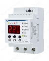 Реле напряжения РН-260T отключает оборудование при недопустимых колебаниях напряжения в сети и после Ток максимальный при активной нагрузке 63A(14кВт); Диапазон регулирования Umin=160-210В,Umax=230-280В,Время повторного вкл. 1-600c;