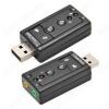Переходник (50432) USB A штекер/2 x 3.5мм гнезда моно+стерео Внешняя USB звуковая карта 7.1