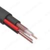 Кабель видеонаблюдения КВК-П-2+2x0.75 OUTDOOR (для наружн.прокладки) Черный; Cu1*0,35; CCA64%; PVC2,0 + 2 CCA*7*0,25; PE7,8