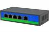 Сетевой коммутатор F0410F - 5портов 10/100Мбит/с 4 порта PoE с выходной мощностью 15.4 Вт на порт, с суммарной мощностью PoE - 78 Вт., 4 порта 10/100 Mbps с автоопределением,2 Uplink порт 10/100 Mbp