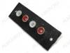 Разъем (126) 4RCA гнезда на панель под винты красный/черный/красный/черный