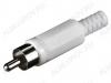 Разъем (130) RCA штекер на кабель белый