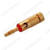 Разъем (065) BANANA штекер на кабель красный метал.
