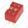 Переключатель DS-02 25mA/24VDC; шаг 2.54мм