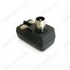 Разъем (344) антенный штекер на кабель под винты угловой (симметризатор)