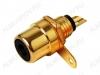 Разъем (137) RCA гнездо на панель черный (RP-1) Gold