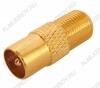 Переходник (329) F гнездо/антенный штекер Gold