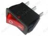 Сетевой выключатель RWB-403 (SC-791) красный с подсветкой 28,0*10,2mm; 15A/250V; 3 pin