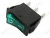 Сетевой выключатель RWB-403 (SC-791) зеленый с подсветкой 28,0*10,2mm; 15A/250V; 3 pin
