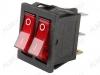 Сетевой выключатель RWB-510 (SC-797) красный двойной с подсветкой 28,0*22,0mm; 15A/250V; 6 pin