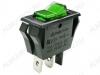 Сетевой выключатель RWB-413 (SC-788) зеленый с подсветкой для сетевого фильтра 27,9*13,5mm; 10A/250V; 3 pin