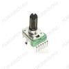 Потенциометр 5KB*2 (min) RV112BCF-40-25B-B5K (R28) Пластиковый, вал 20мм с накаткой и шлицем, линейная зависимость