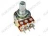 Потенциометр 50KB*2 исп.2 RV16A01F-20-15K-B50K-3 (R03) Металлический, вал 15 мм с накаткой и шлицем, линейная зависимость