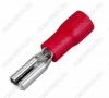 Клемма ножевая (№1) 2.8x0.8 гнездо VF1.25-110(8) изолированная сечение 0.5-1.5 мм2; красная
