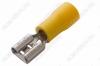 Клемма ножевая (№15) 6.4x0.8 гнездо VF5.5-250 изолированная сечение 3.5-5.5 мм2; желтая