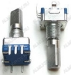 Энкодер а/м 5 pin с кнопкой (02) (R188) Вал 20 мм, металл, лыска, резьба