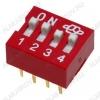 Переключатель DS-04 25mA/24VDC; шаг 2.54мм