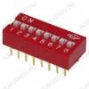 Переключатель DS-08 25mA/24VDC; шаг 2.54мм